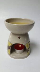 burner tungku aromaterapi motif batik