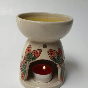 burner tungku aromaterapi motif kupu - kupu