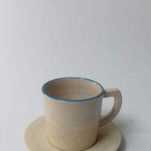 Jual Souvenir Cangkir Bahan Keramik Blue Line Cup