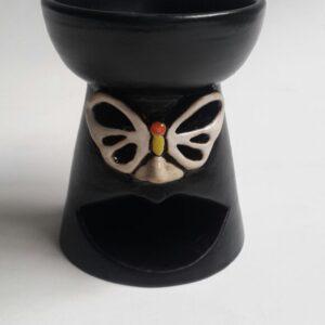 burner tungku aromaterapi keramik motif
