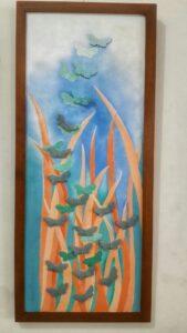 Lukisan keramik acrilyc