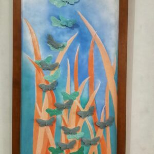 Lukisan keramic acrilyc