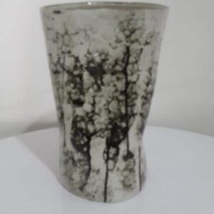 Vas bubble glaze tinggi 24, 5 cm