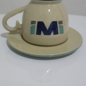 cangkir kopi keramik handmade bentuk unuk terbalik