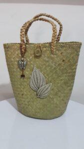 keramik stoneware kurun bag motif daun